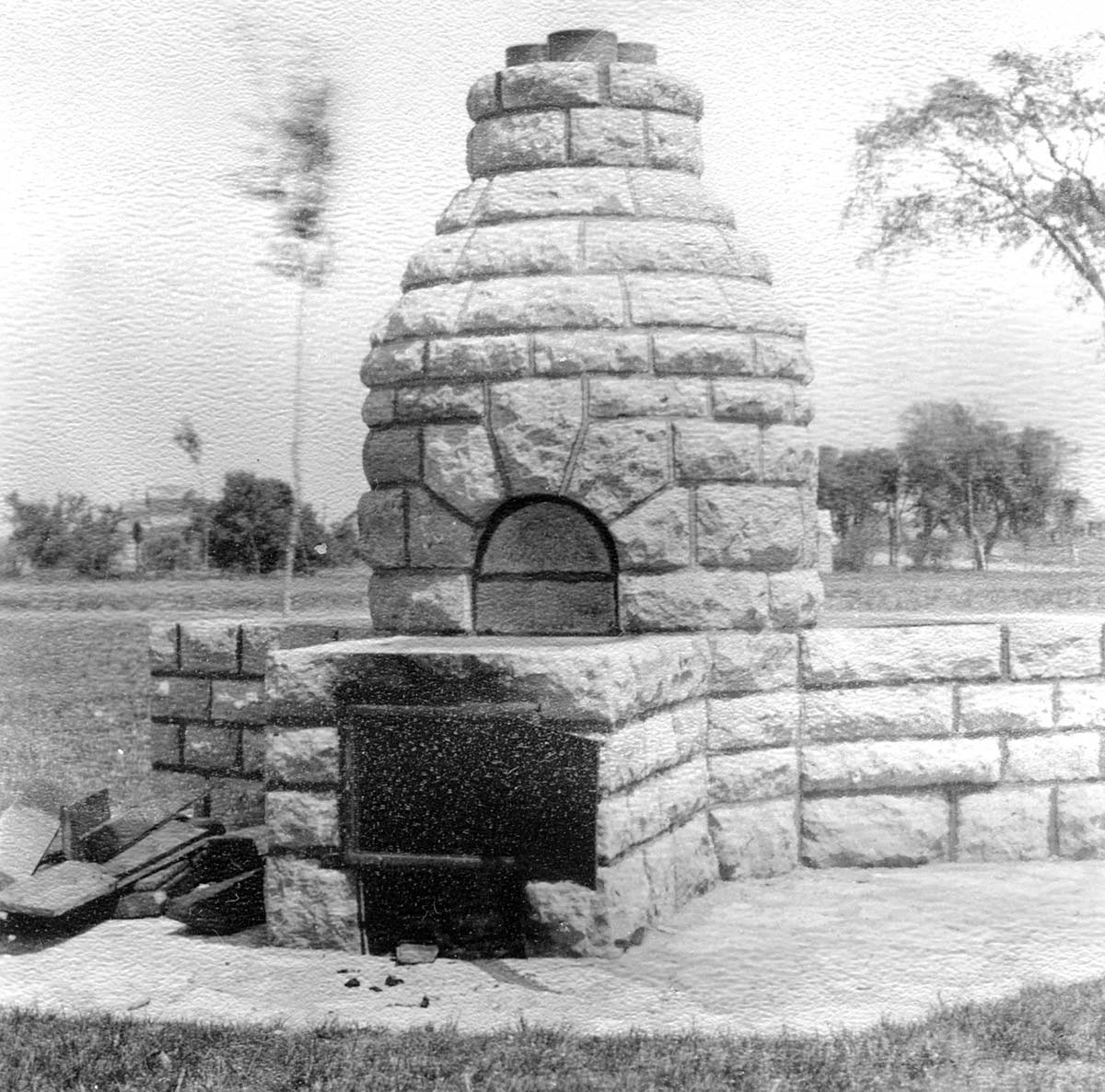 Beehive fireplace in Excelsior Boulevard Roadside Parking Area, Lilac Way