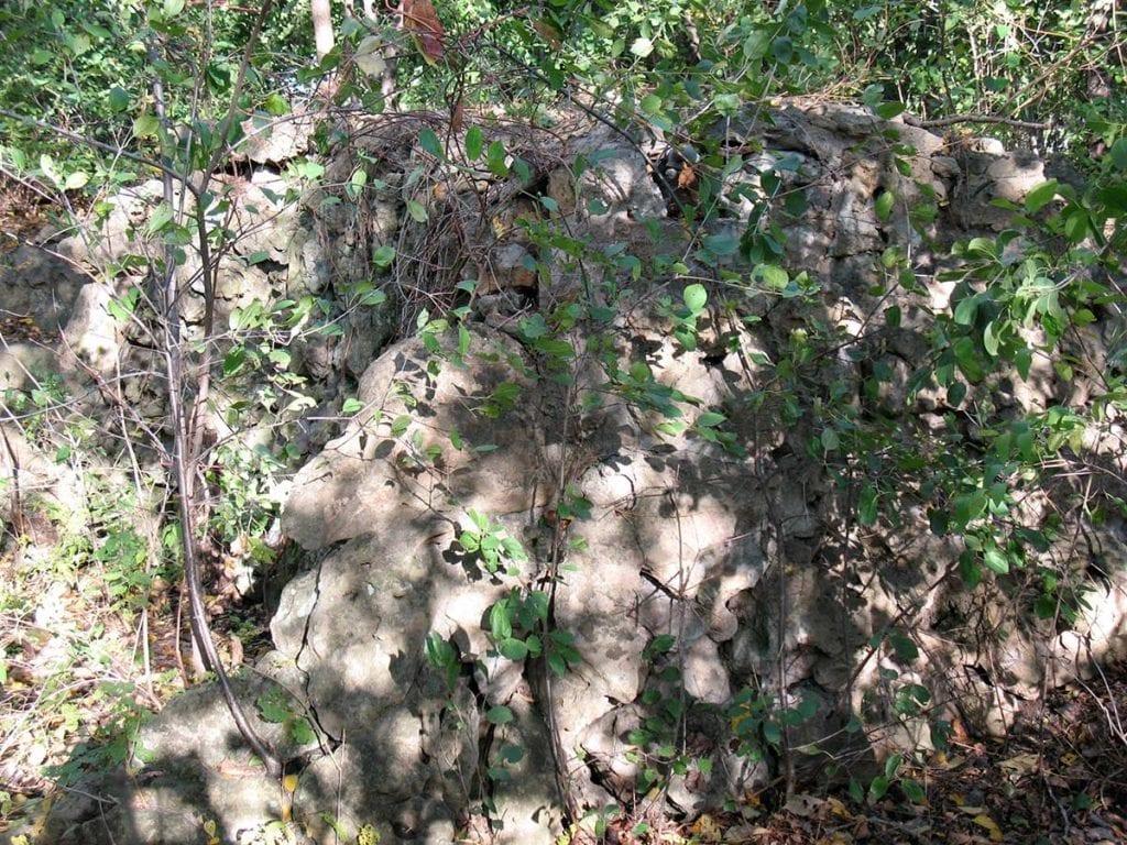 Limestone wall at the original Lilac Park on Highway 100 and Minnetonka Boulevard
