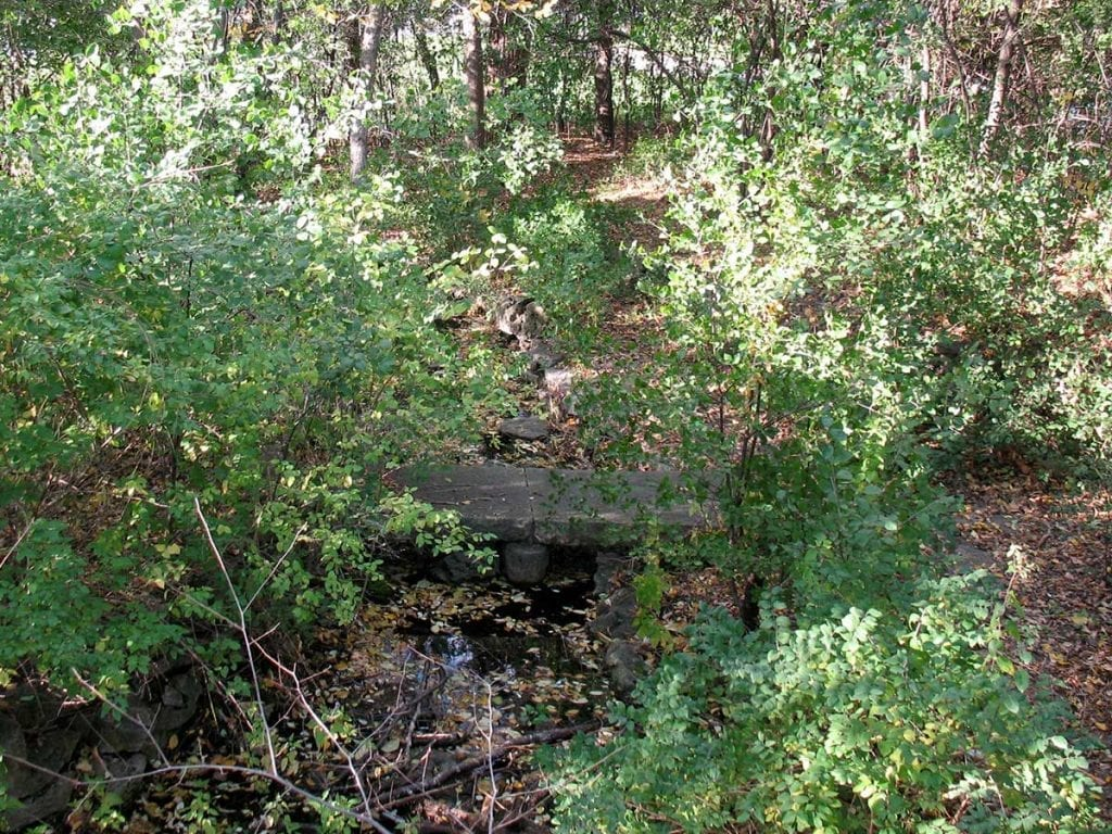 Stone walkway at the original Lilac Park on Highway 100 and Minnetonka Boulevard