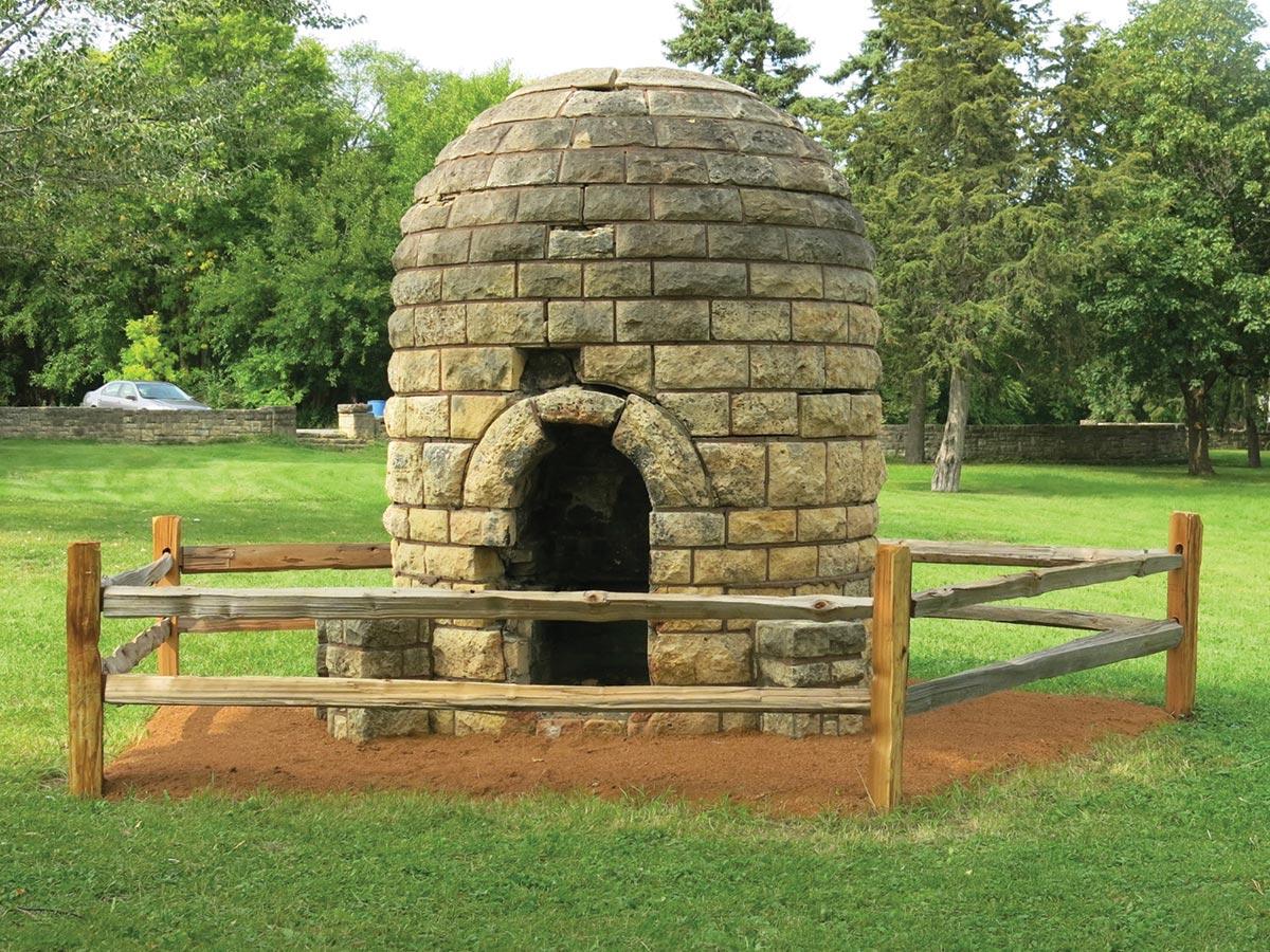 Graeser Park, Sept. 2, 2020. Rare 1939 beehive fireplace.
